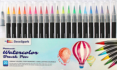 Best Watercolor Brush Pens by Decospark