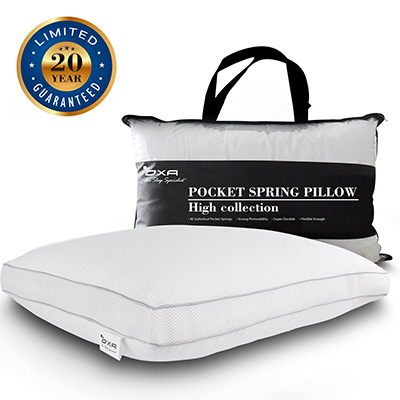 Spring Bed Pillow – With 40 Separate Pocket Springs