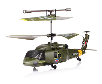 High Quality RC Helicopter with Gyro - Syma S102G